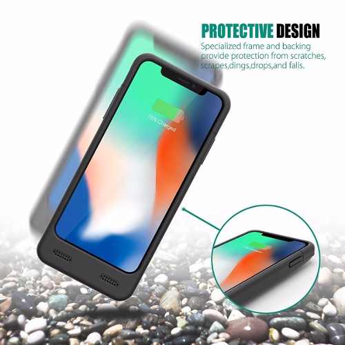 Capa Carregadora Bateria Externa Para iPhone X iPhone 10
