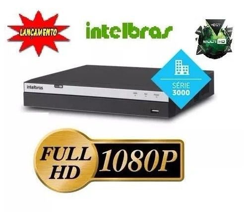 Dvr 16 Canais Full Hd 1080p Intelbras 3016 Mhdx +hd 4tb