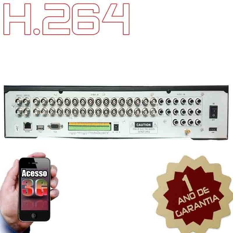 Dvr Stand Alone 32 Canais + 16 Audios H.264 Completo + Hdmi