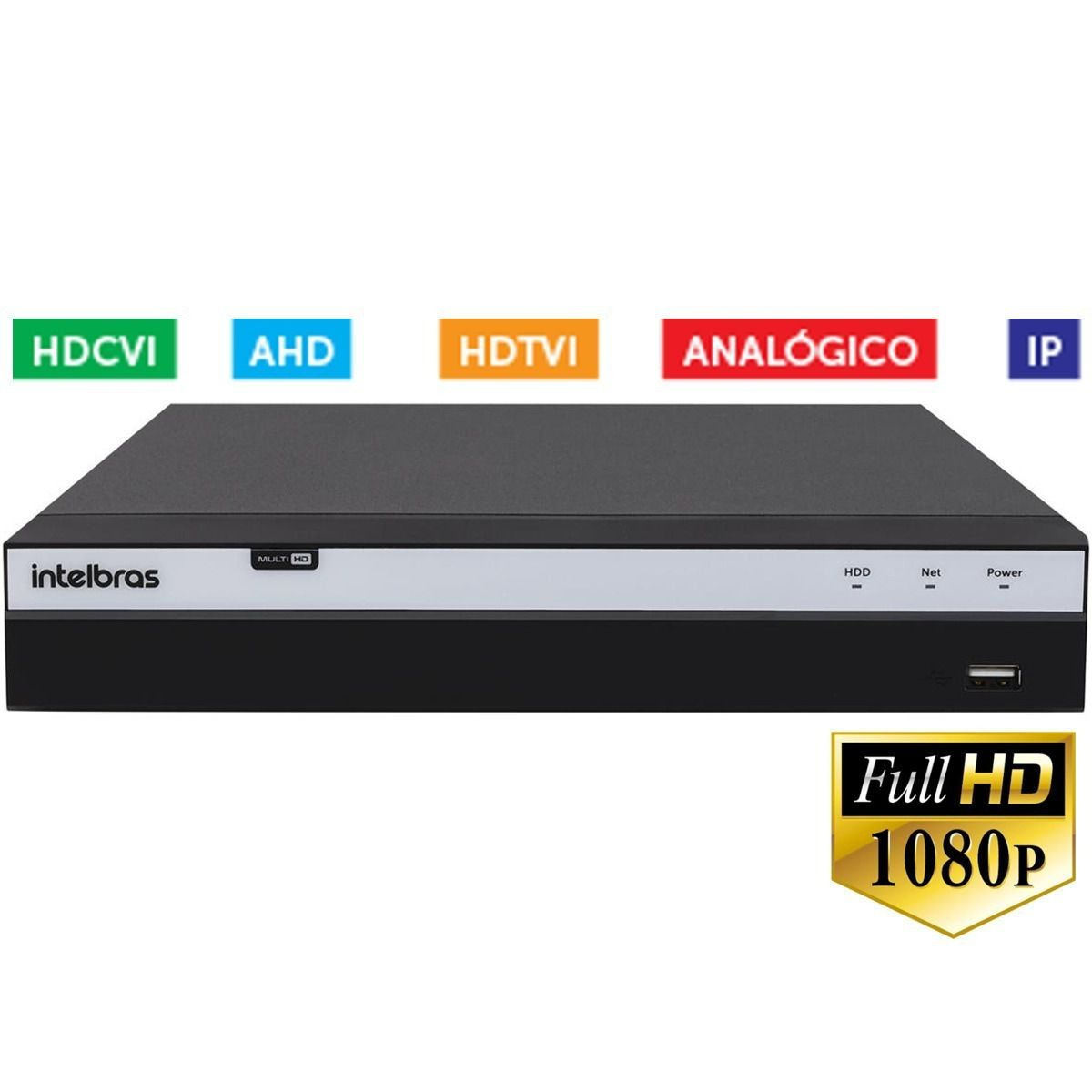 Dvr Stand Alone 32 Ch Multi HD + HD 4 TB Mhdx 1032 Intelbras