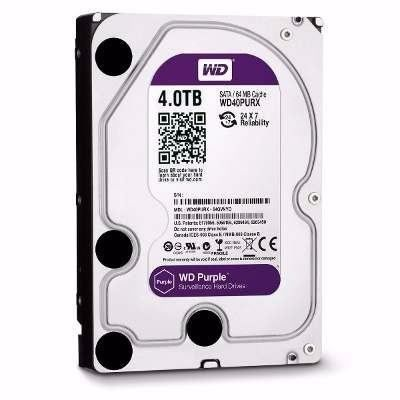 Hd Wd Western Digital Purple 4tb 64mb Sata P/ Dvr Intelbras