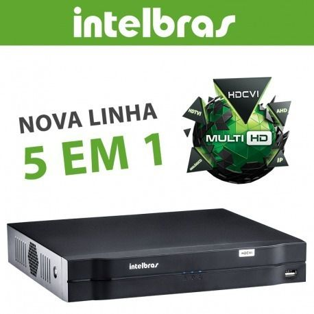 Kit 8 Câm Multi Hd 1120b G4 Dvr 8 Canais Intelbras 1008