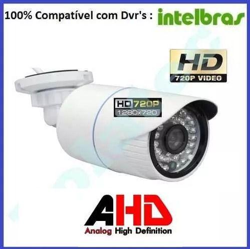 Kit Cftv Ahd 16 Cameras Hd Ir +dvr 16 Ch Intelbras Sem Cabo