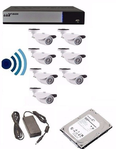Kit Cftv Dvr 16 Ch + 10 Câmeras Ahd-m 1.3 Mp