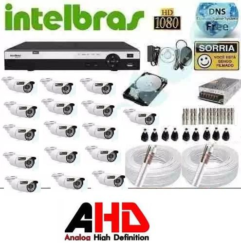 Kit Cftv Dvr 32 Ch Intelbras 1032 Mhdx Ahd 32 Camera 720p
