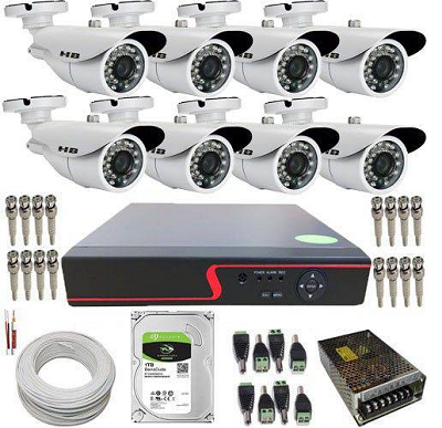 Kit Cftv Dvr Full Hd Luxpower 8 Câmeras Ahd 2.0mp + Hd  2tb