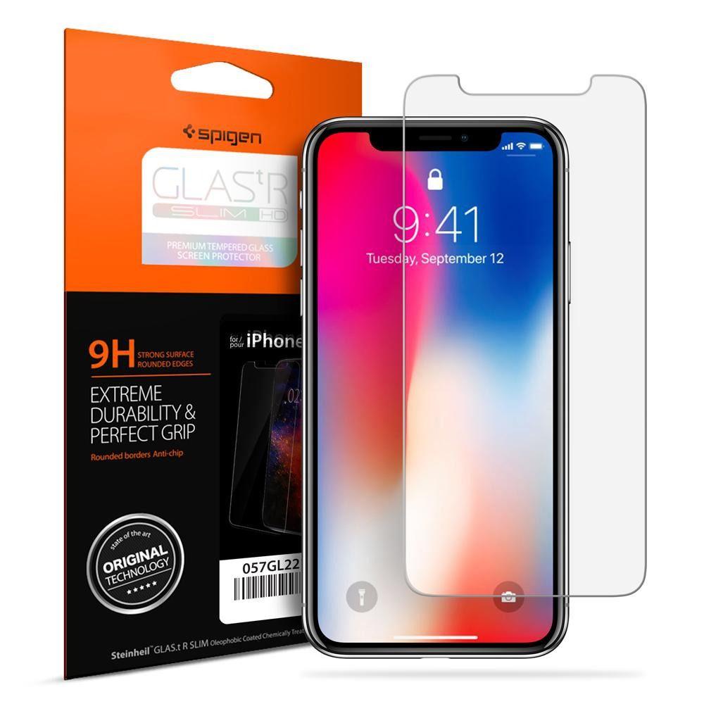 Película De Vidro Frontal 9h Premium Spigen Para Iphone X 10