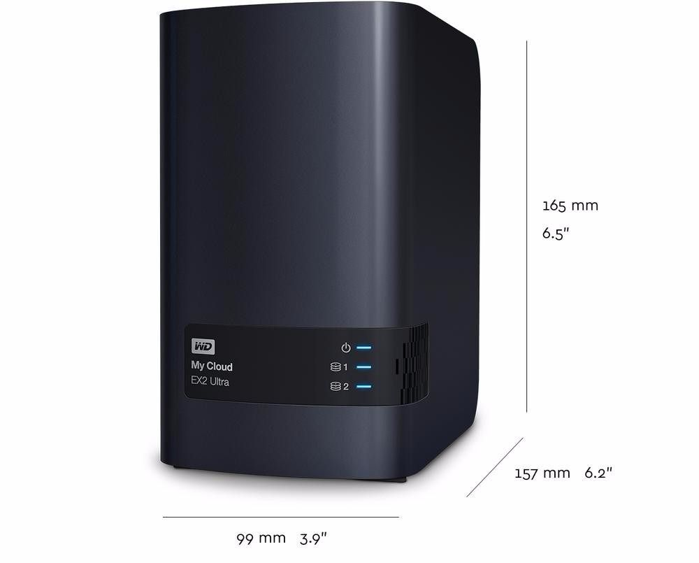 Servidor Storage Nas Wd My Cloud Expert Ex2 Ultra Ate 20tb