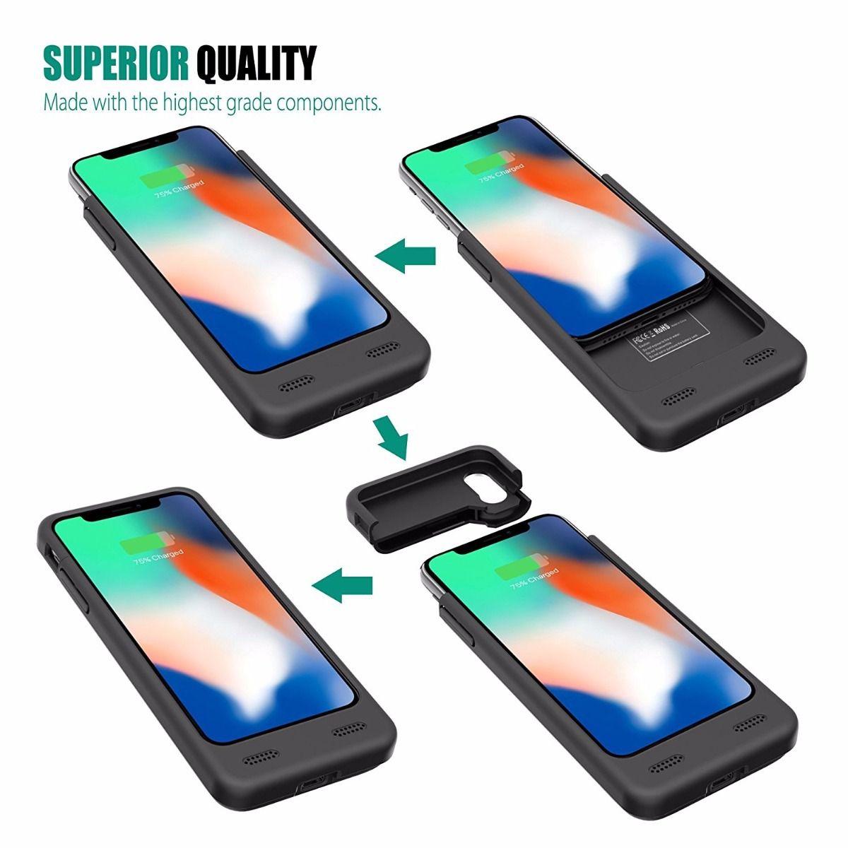 Smart Case Battery Para iPhone X Xs 4000mah iPhone 10
