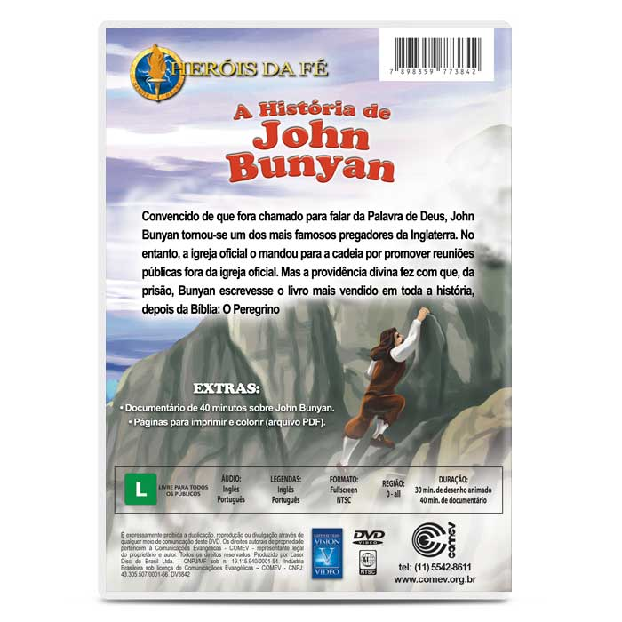 Heróis da Fé - A História de John Bunyan  - COMEV