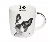 Caneca Porc 320 Ml I Love Dogs - Bulldog