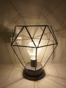 Luminária De Mesa Forma Geométrica Cinza