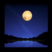 Luminária Lua 3D - 18 cm