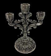 Miniatura Metálica Castiçal - Cor Prata