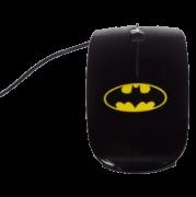 Mouse Plastico Batman Dc Preto 9 X 5 X 3 Cm