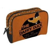 Necessaire Pu Looney Daffy Duck Despicable Fd Laranja