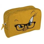 Necessaire Pu Looney Tweety Big Face Fd Amarelo