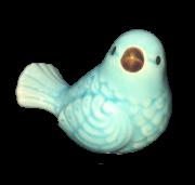Pássaro 6 Cm Verde Cerâmica