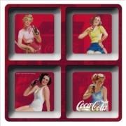 Petisqueira Coca Cola Melamine Quadrada Pin Ups Fd Vermelho