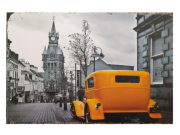 Placa MDF 30x20 Cm Carro Amarelo