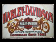 Placa MDF 30x20 Cm Harley Davidson