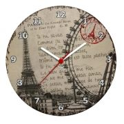 Relógio De Parede Ecológico Paris Torre Eiffel