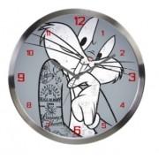 Relógio Parede Alumínio Looney Bug Bunny Concerned