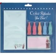 Set Bloco De Notas Com Adesivo Coca-Cola Colored Contour Bot