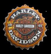 Tampa Garrafa Decorativa 27 cm Harley