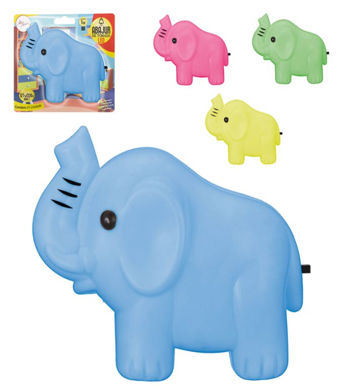 Abajur De Parede Led Elefante Bivolt
