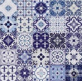 Adesivo De Azulejo Mix Azul 15x15