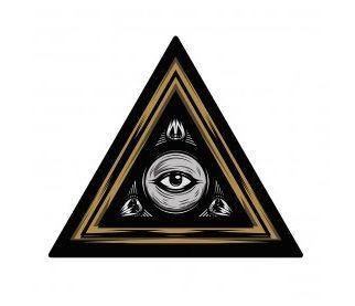 Adesivo De Olho Mágico Illuminati Eye