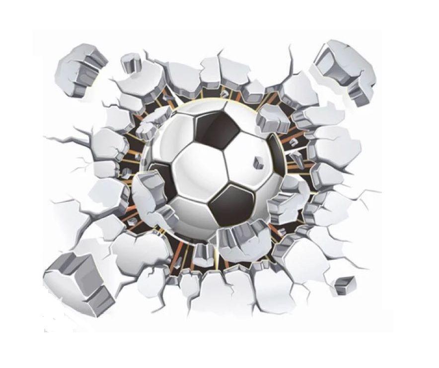 Adesivo De Parede Bola De Futebol - uvDecor Presentes e Decorações Criativas cc622e8472968