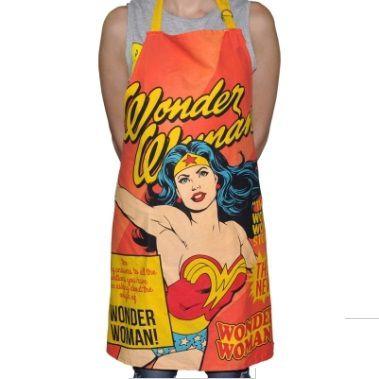 Avental Algodão Dc Wonder Woman Cover Page Rosa 70 X 80 Cm