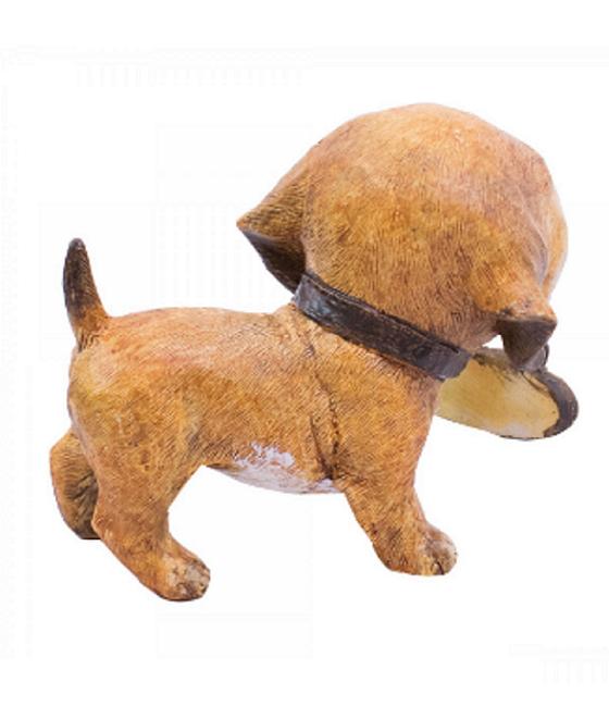 Cachorro Placa Te Amo 9 cm - Resina