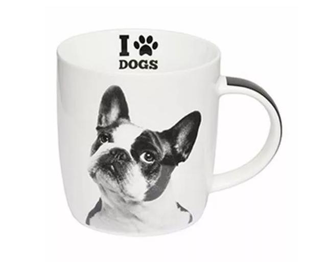 Caneca Porc 320 Ml I Love Dogs - Bulldog