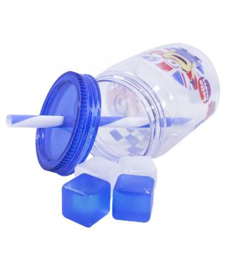 Copo Azul Marinho Com Cubos De Gelo 600 Ml - Minions | Meu Malvado Favorito