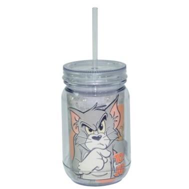 Copo Jarra Acrilico Hb Tom And Jerry Mad Face Cat