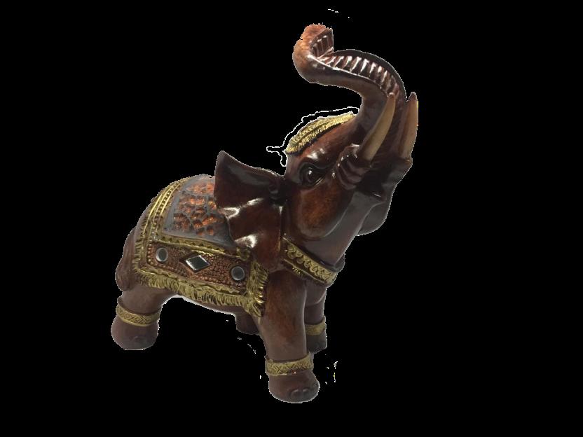Elefante Tromba Levantada Vitral 14 Cm