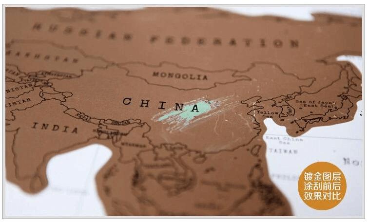 Mapa Raspadinha Fundo Brando  88 x 52 cm