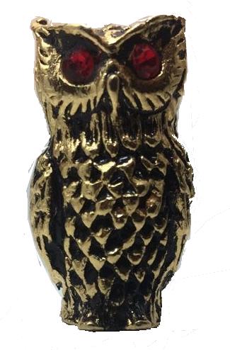 Miniatura Metálica Coruja Dourada