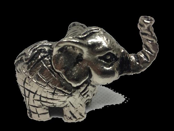 Miniatura Metálica Elefante - Cor Prata
