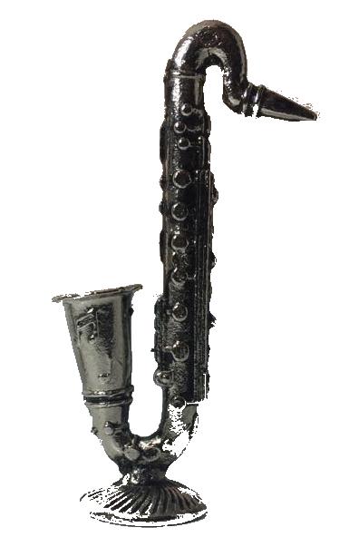 Miniatura Metálica Saxofone Cor - Prata