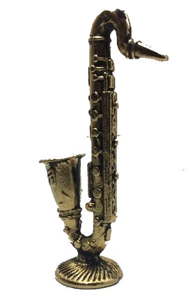 Miniatura Metálica Saxofone Dourado