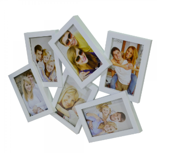 Multi Porta Retrato Branco 6 Fotos 10x15 Cm