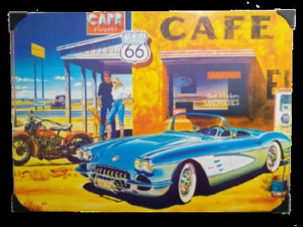 Placa de Metal 40x30 Cm Cafe