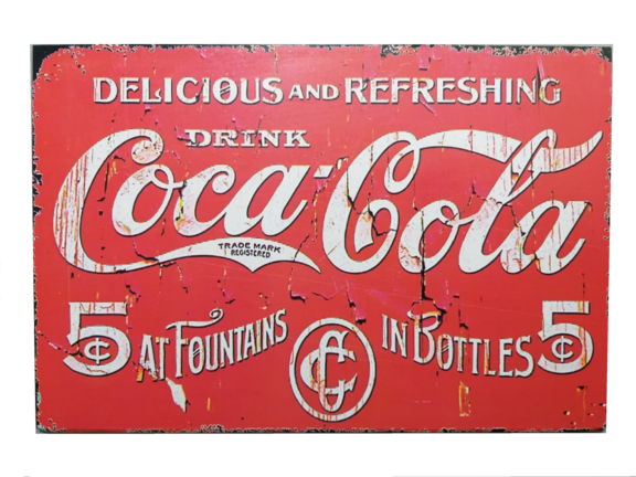 Placa MDF 30x20 Cm CocaCola