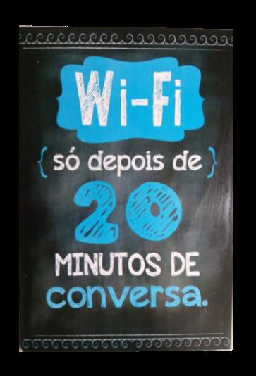 Placa MDF 30x20 Cm WiFi