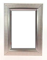 Porta Retrato Rústico Prata
