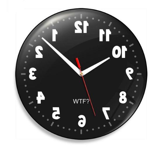 4abdd0e2e35 Relógio De Parede Geek Anti Horário - 30 Cm - uvDecor Presentes e  Decorações Criativas